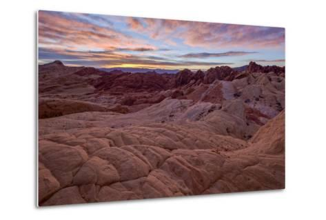 Sunrise over Sandstone Formations, Valley of Fire State Park, Nevada-James Hager-Metal Print