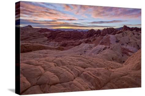 Sunrise over Sandstone Formations, Valley of Fire State Park, Nevada-James Hager-Stretched Canvas Print