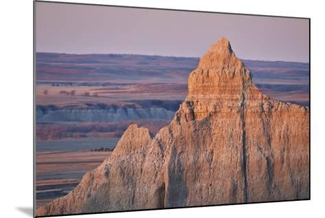 Badlands at Dawn, Badlands National Park, South Dakota, United States of America, North America-James Hager-Mounted Photographic Print