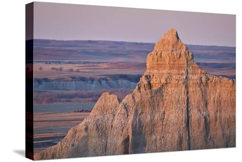 Badlands at Dawn, Badlands National Park, South Dakota, United States of America, North America-James Hager-Stretched Canvas Print