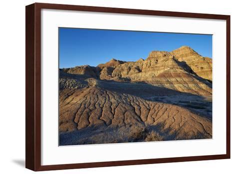Badlands, Badlands National Park, South Dakota, United States of America, North America-James Hager-Framed Art Print