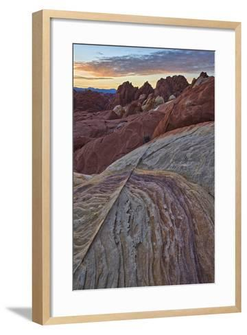 Sunrise over Sandstone, Valley of Fire State Park, Nevada, United States of America, North America-James Hager-Framed Art Print