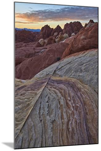 Sunrise over Sandstone, Valley of Fire State Park, Nevada, United States of America, North America-James Hager-Mounted Photographic Print
