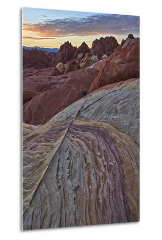 Sunrise over Sandstone, Valley of Fire State Park, Nevada, United States of America, North America-James Hager-Metal Print