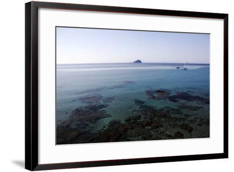 View over the Bull Island Sant'Antioco Sardinia, Italy, Mediterranean, Europe-Oliviero Olivieri-Framed Art Print