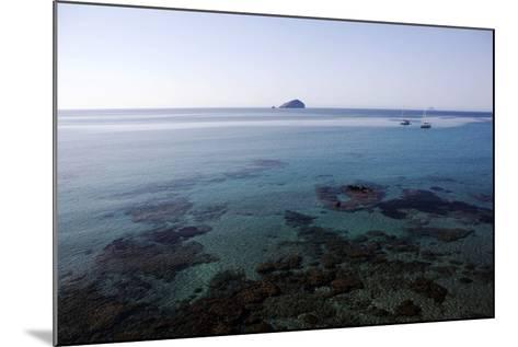 View over the Bull Island Sant'Antioco Sardinia, Italy, Mediterranean, Europe-Oliviero Olivieri-Mounted Photographic Print
