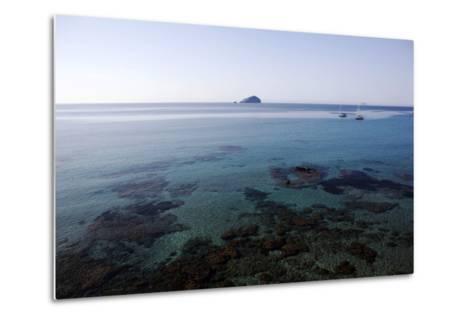 View over the Bull Island Sant'Antioco Sardinia, Italy, Mediterranean, Europe-Oliviero Olivieri-Metal Print