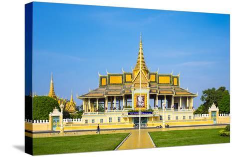 Moonlight Pavilion (Preah Thineang Chan Chhaya) of the Royal Palace, Phnom Penh, Cambodia-Jason Langley-Stretched Canvas Print