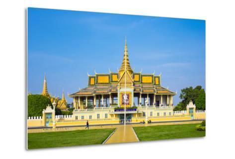 Moonlight Pavilion (Preah Thineang Chan Chhaya) of the Royal Palace, Phnom Penh, Cambodia-Jason Langley-Metal Print