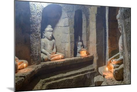 Statues of Buddha, Pagoda of Andaw, Dated 1521, Mrauk U, Rakhaing State, Myanmar (Burma), Asia-Nathalie Cuvelier-Mounted Photographic Print