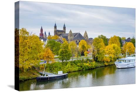 Maastricht Skyline, Onze Lieve Vrouwebasiliek (Basilica of Our Lady) in Early Autumn, Maastricht-Jason Langley-Stretched Canvas Print