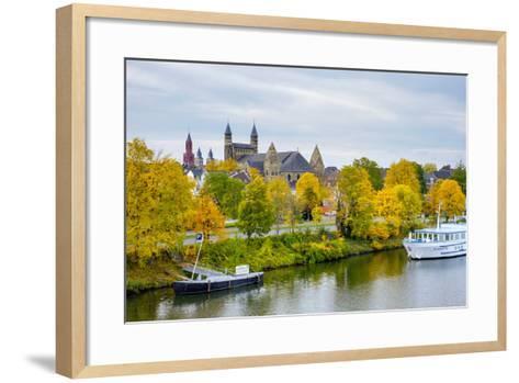 Maastricht Skyline, Onze Lieve Vrouwebasiliek (Basilica of Our Lady) in Early Autumn, Maastricht-Jason Langley-Framed Art Print