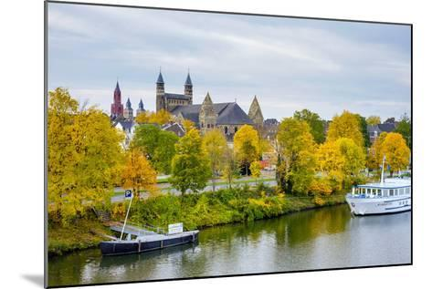 Maastricht Skyline, Onze Lieve Vrouwebasiliek (Basilica of Our Lady) in Early Autumn, Maastricht-Jason Langley-Mounted Photographic Print