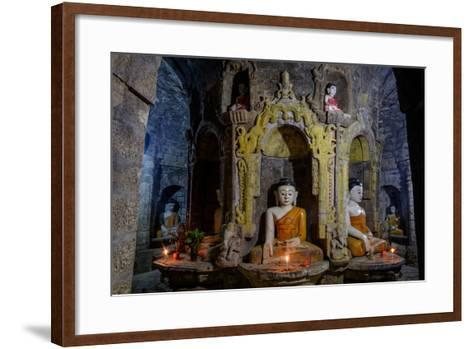 Statues of Buddha, Pagoda of Andaw, Dated 1521, Mrauk U, Rakhaing State, Myanmar (Burma), Asia-Nathalie Cuvelier-Framed Art Print