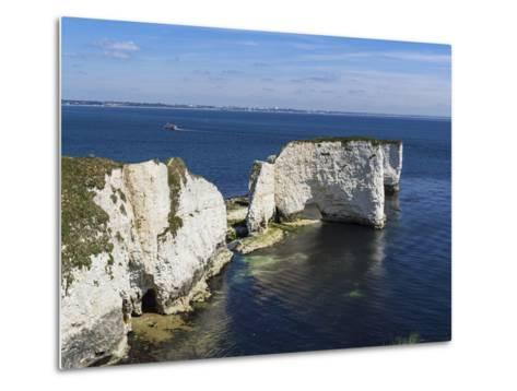 Old Harry Rocks at the Foreland (Handfast Point), Poole Harbour, Isle of Purbeck-Roy Rainford-Metal Print