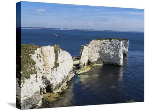 Old Harry Rocks at the Foreland (Handfast Point), Poole Harbour, Isle of Purbeck-Roy Rainford-Stretched Canvas Print
