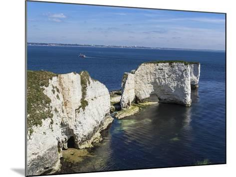 Old Harry Rocks at the Foreland (Handfast Point), Poole Harbour, Isle of Purbeck-Roy Rainford-Mounted Photographic Print