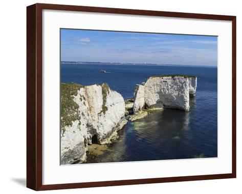 Old Harry Rocks at the Foreland (Handfast Point), Poole Harbour, Isle of Purbeck-Roy Rainford-Framed Art Print
