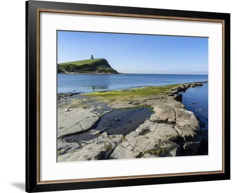 Rock Ledges and Clavell Tower in Kimmeridge Bay, Isle of Purbeck, Jurassic Coast-Roy Rainford-Framed Art Print