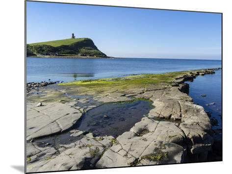 Rock Ledges and Clavell Tower in Kimmeridge Bay, Isle of Purbeck, Jurassic Coast-Roy Rainford-Mounted Photographic Print