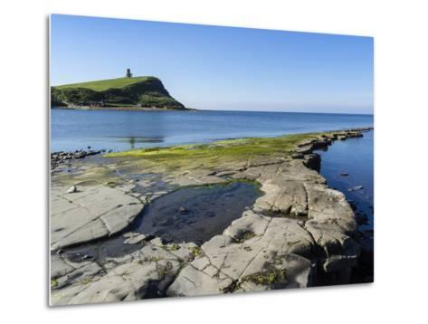 Rock Ledges and Clavell Tower in Kimmeridge Bay, Isle of Purbeck, Jurassic Coast-Roy Rainford-Metal Print