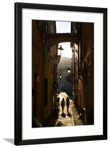 Narrow Street, Imperia, Liguria, Italy, Europe-Frank Fell-Framed Art Print