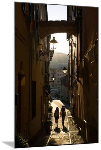 Narrow Street, Imperia, Liguria, Italy, Europe-Frank Fell-Mounted Photographic Print