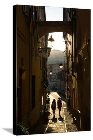 Narrow Street, Imperia, Liguria, Italy, Europe-Frank Fell-Stretched Canvas Print