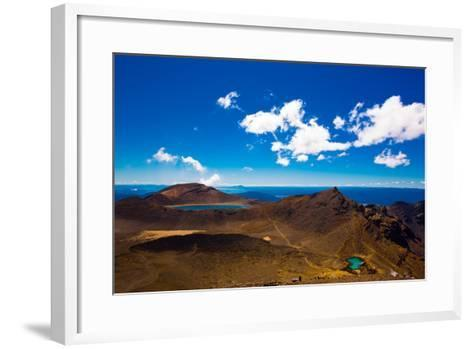 The Tongariro Crossing, UNESCO World Heritage Site, North Island, New Zealand, Pacific-Laura Grier-Framed Art Print