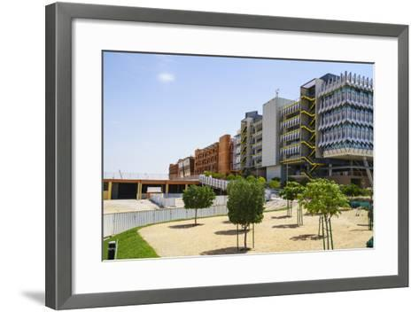 Masdar City-Fraser Hall-Framed Art Print