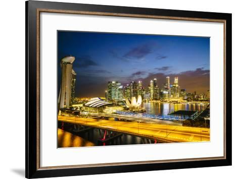 Busy Roads Leading to the Marina Bay Sands-Fraser Hall-Framed Art Print