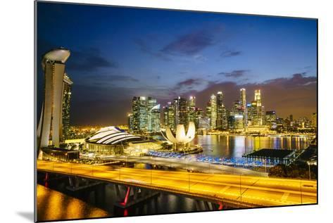 Busy Roads Leading to the Marina Bay Sands-Fraser Hall-Mounted Photographic Print