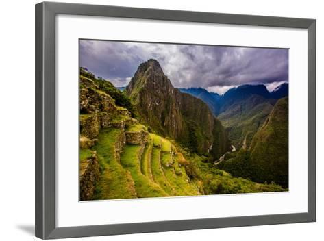 Machu Picchu Incan Ruins, UNESCO World Heritage Site, Sacred Valley, Peru, South America-Laura Grier-Framed Art Print