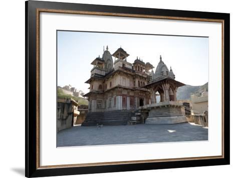The Jagat Shiromani Hindu Temple, Dedicated to Shiva, Krishna and Meera Bhai-Annie Owen-Framed Art Print