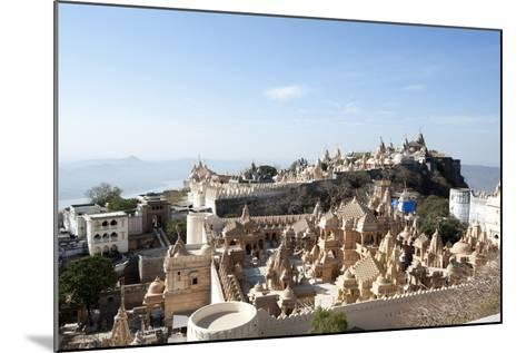 The Sacred Jain Marble Temples, Place of Jain Pilgrimage, Built at the Top of Shatrunjaya Hill-Annie Owen-Mounted Photographic Print