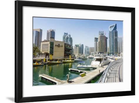 Dubai Marina, Dubai, United Arab Emirates, Middle East-Fraser Hall-Framed Art Print