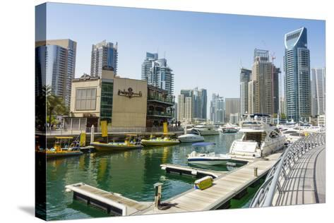 Dubai Marina, Dubai, United Arab Emirates, Middle East-Fraser Hall-Stretched Canvas Print