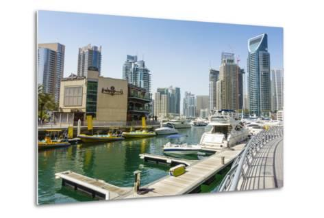 Dubai Marina, Dubai, United Arab Emirates, Middle East-Fraser Hall-Metal Print