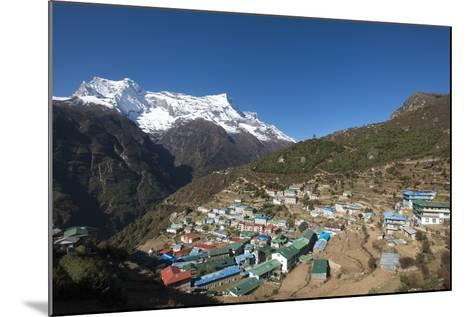 Namche, the Main Trading Centre and Tourist Hub for the Khumbu (Everest Region) with Kongde Ri Peak-Alex Treadway-Mounted Photographic Print