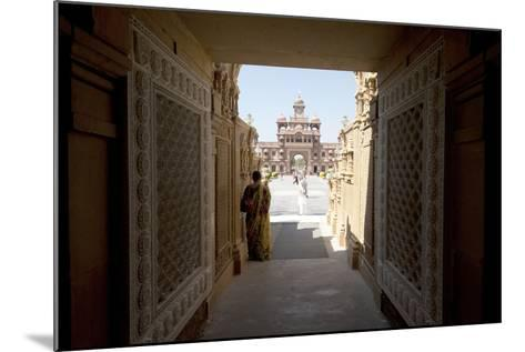 Entrance to the Jain Swaminarayan Temple, Gondal, Gujarat, India, Asia-Annie Owen-Mounted Photographic Print