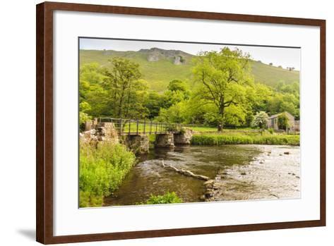 Bridge across River Wye, Stone Farm Buildings, Monsal Dale-Eleanor Scriven-Framed Art Print