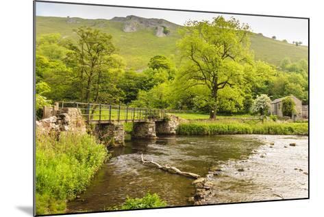 Bridge across River Wye, Stone Farm Buildings, Monsal Dale-Eleanor Scriven-Mounted Photographic Print