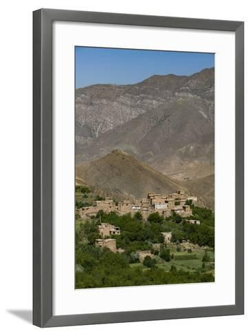 A Village and Terraced Fields of Wheat and Potatoes in the Panjshir Valley, Afghanistan, Asia-Alex Treadway-Framed Art Print