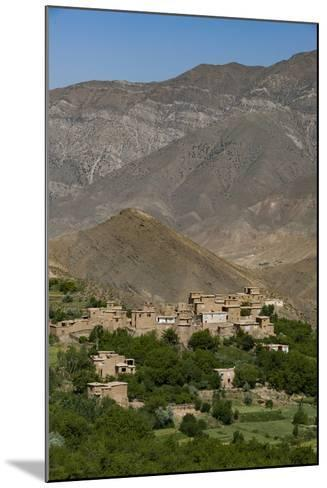 A Village and Terraced Fields of Wheat and Potatoes in the Panjshir Valley, Afghanistan, Asia-Alex Treadway-Mounted Photographic Print