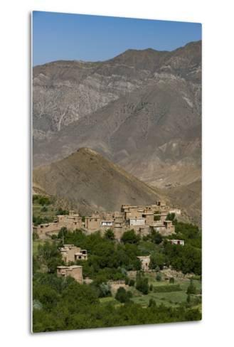A Village and Terraced Fields of Wheat and Potatoes in the Panjshir Valley, Afghanistan, Asia-Alex Treadway-Metal Print