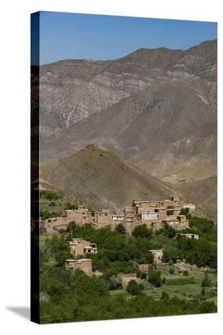 A Village and Terraced Fields of Wheat and Potatoes in the Panjshir Valley, Afghanistan, Asia-Alex Treadway-Stretched Canvas Print