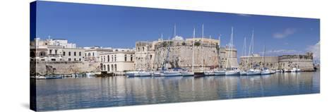 Old Town with Castle and Harbour, Gallipoli, Lecce Province, Salentine Peninsula, Puglia-Markus Lange-Stretched Canvas Print