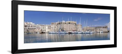 Old Town with Castle and Harbour, Gallipoli, Lecce Province, Salentine Peninsula, Puglia-Markus Lange-Framed Art Print