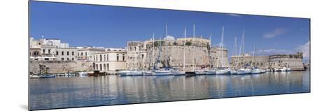 Old Town with Castle and Harbour, Gallipoli, Lecce Province, Salentine Peninsula, Puglia-Markus Lange-Mounted Photographic Print