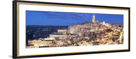 Sasso Barisano and Cathedral, UNESCO World Heritage Site, Matera, Basilicata, Puglia, Italy, Europe-Markus Lange-Framed Art Print